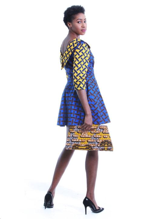 FOLKSHELF Eki Cowl Back Dress