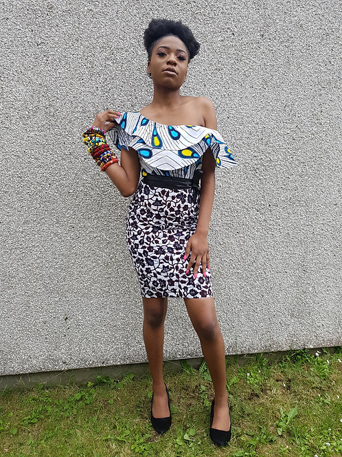FOLKSHELF African Print NK Pencil Skirt