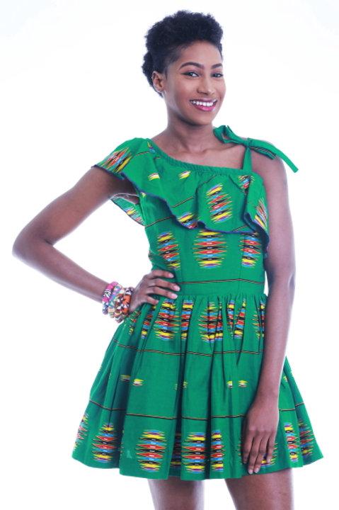 FOLKSHELF Amara Ruffle Dress