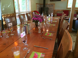 Our dining and conference table