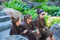 Relaxing at le Nordik spa