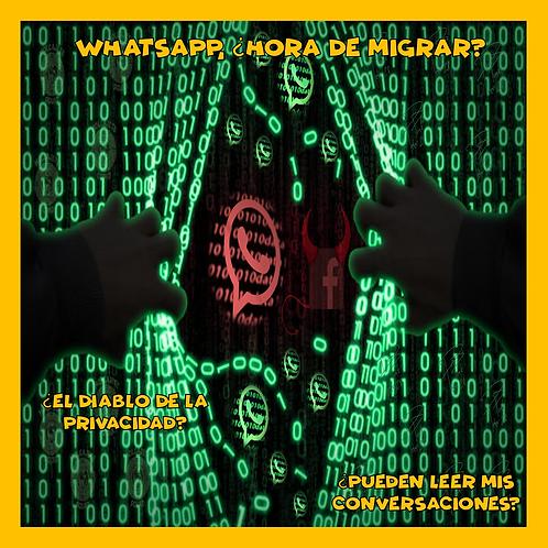 Acceso a la Conferencia: Whatsapp, ¿Hora de migrar? ¿El Diablo de la privacidad?