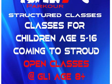 NEW STRUCTURED PARKOUR CLASSES