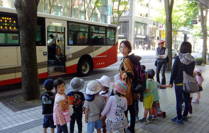 公共の乗りものに乗っての遠足