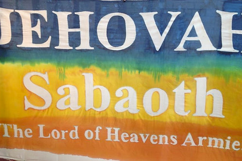 Jehovah Sabaoth proclamation banner