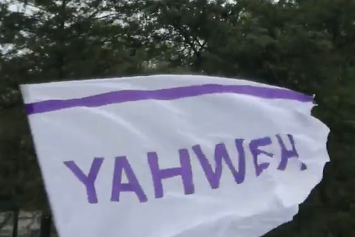 Yahweh in Polyester - 55 x75  SALE