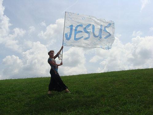 Jesus flag in Polyester  SALE