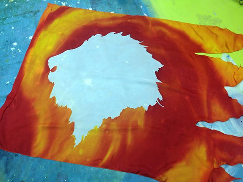 Lion banner with pole
