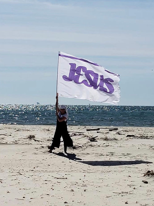 THE JESUS BANNER- Purple