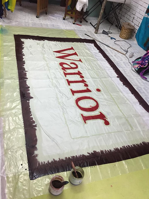 Warrior banner polyester