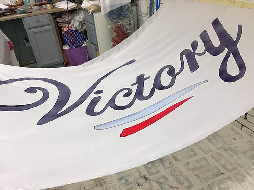 Victory banner 40x50 with fiberglass pole included