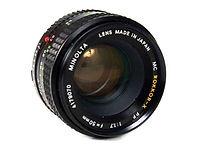 Minolta 50mm f1.7 MC Rokkor-X PF