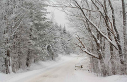 Straight Rd in Snow