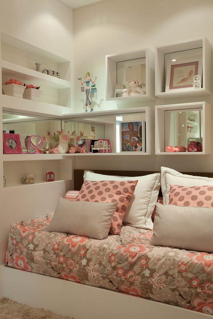 Inspira O Da Noite Quarto Menina Arquitetura De Interiores E  ~ Quarto Cinza Feminino Com Nichos Quarto De Menina