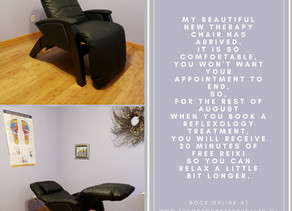 New deluxe therapy chair.