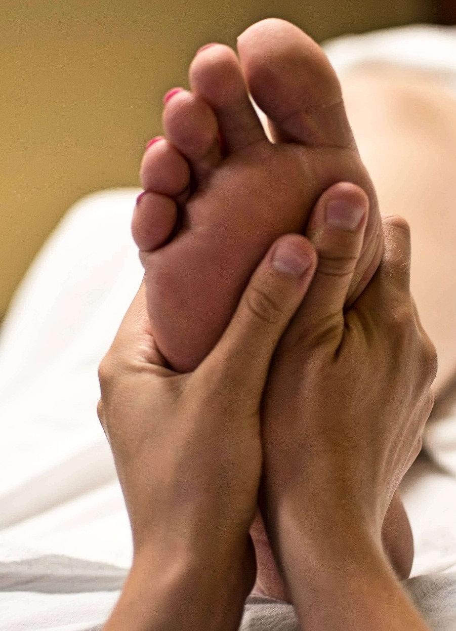 Initial Reflexology w/Aroma foot bath
