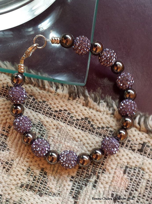 Item - 1001 Purple Bead Bracelet