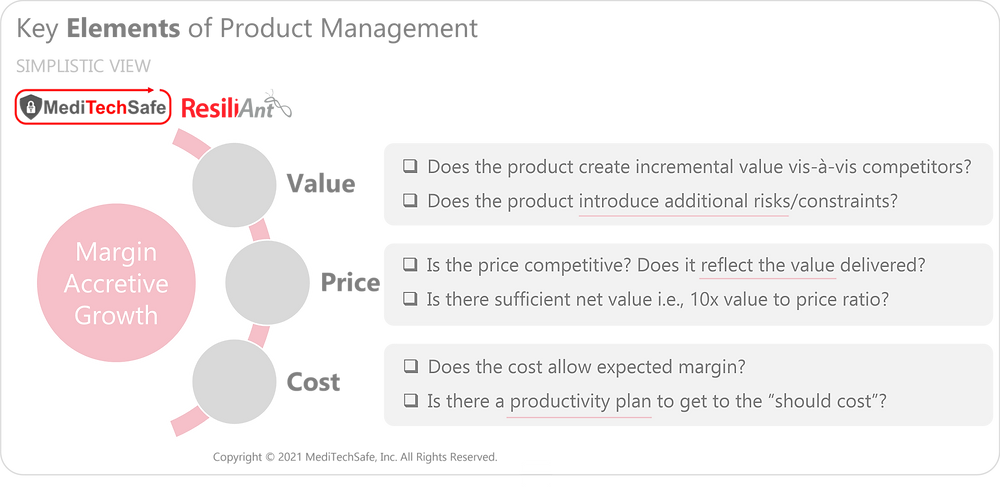 Elements of Product Management: MediTechSafe and ResiliAnt