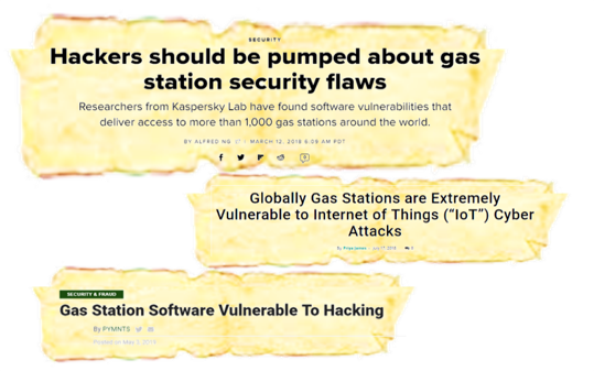 Cyberattacks on gas-stations, ResiliAnt