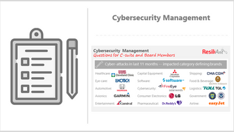 How is cybersecurity managed in your organization?