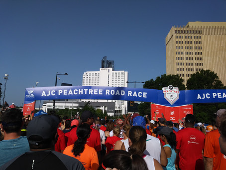 Walking AJC Peachtree 2017 Road Race