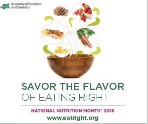 National Nutrition Month of 2016