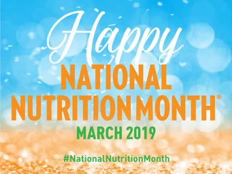 National Nutrition Month - 2019