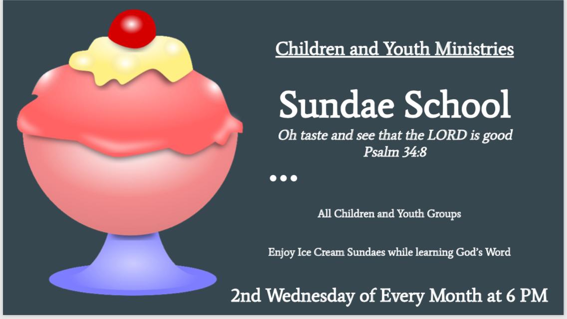 Youth Sundae School Social