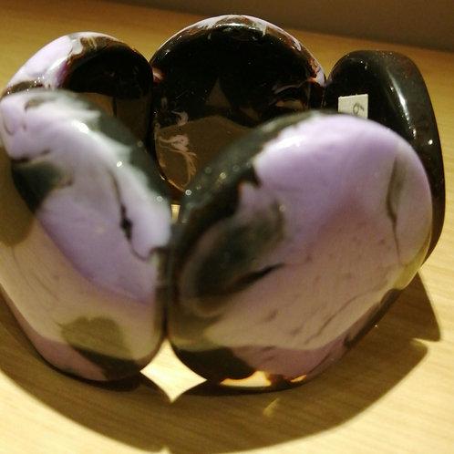 Chunky purple and black bracelet