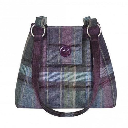 Tweed Ava Bag colour Heather