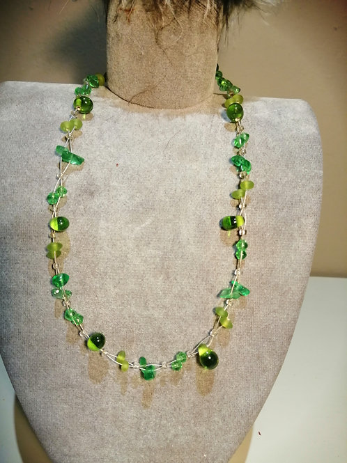 Delicate Wire and Lime Stone Necklace