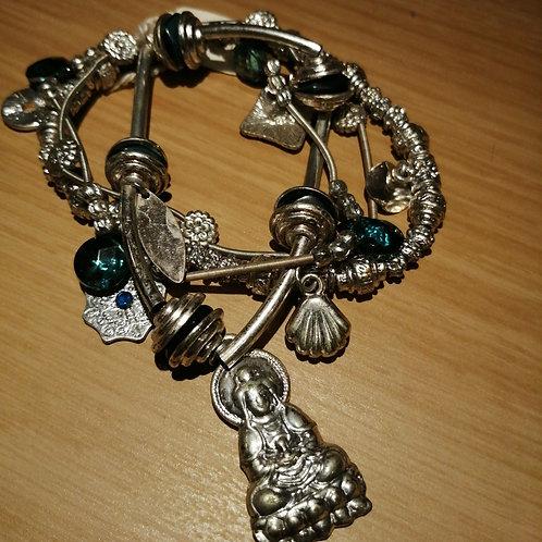 Heavy charm bracelet