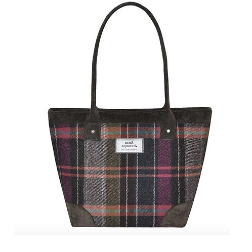 Tweed Tote Bag Pewter