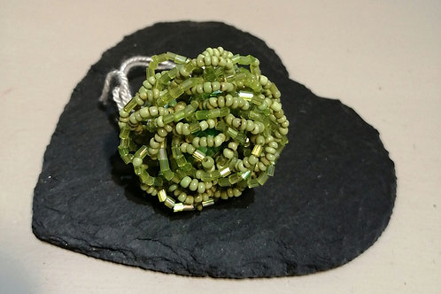 Beaded Lime Ring
