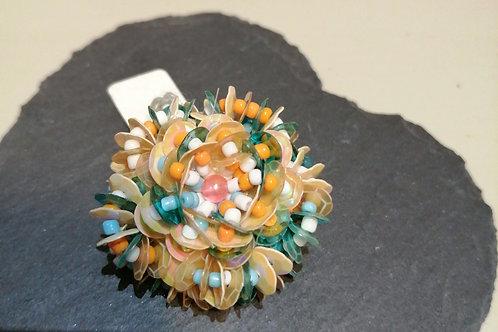 Orange and Turquoise Ring