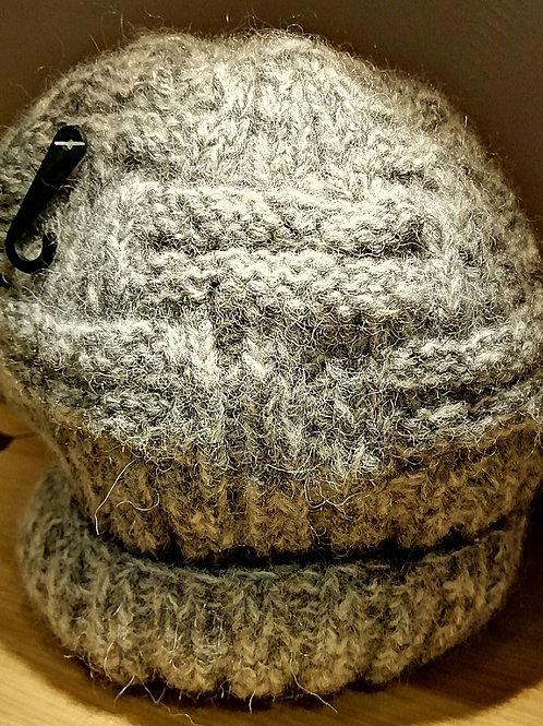 grey wool hat made in Nepal fair trade