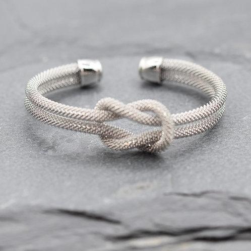 Multi twist bracelet in silver