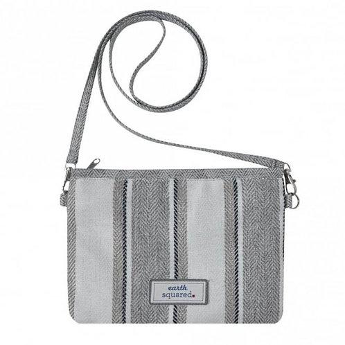 Lightweight crossover bag in grey stripe