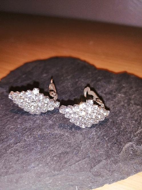 Diamanté clip on earrings