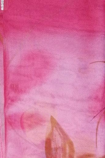 Large Chiffon Pink Flower Scarf