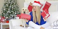 Open-Christmas-presents-girl-Stock-Photo