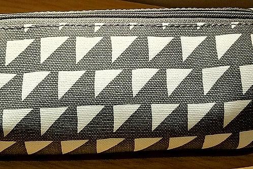 Grey Oilcloth Make-up Bag