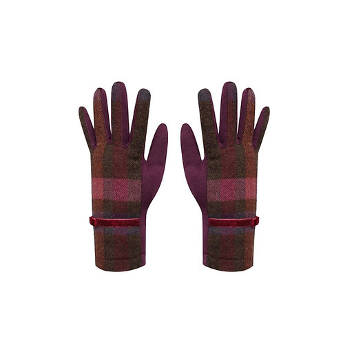 Tweed gloves in Mulberry