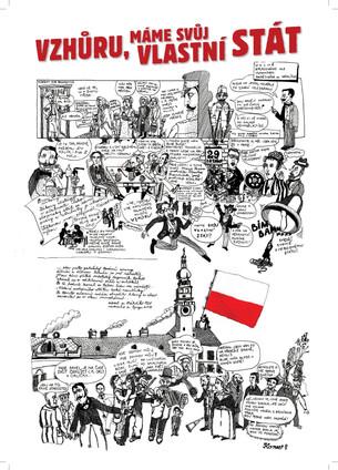 Komix_Plakát_výstava_100_let_republiky_A