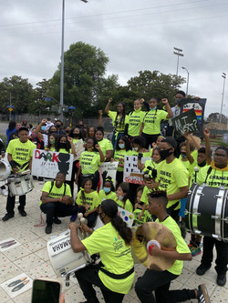 Youth Protest Against Racial Inequality In Crenshaw