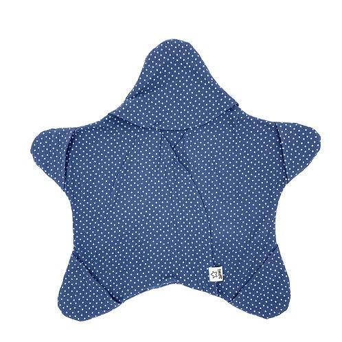 Blau mit kleinen Sternen
