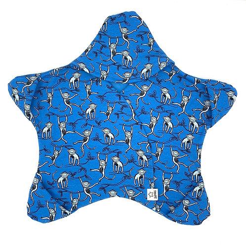 Blau mit Äffchen