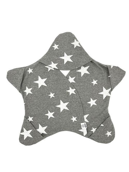 Grau mit weissen Sternen