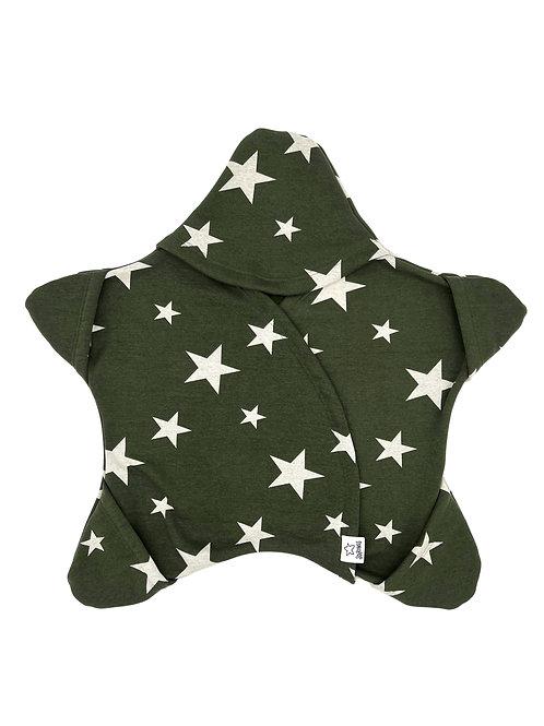 Olive mit weissen Sternen