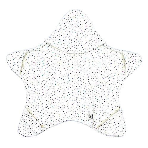 Weiss mit bunten Sternen